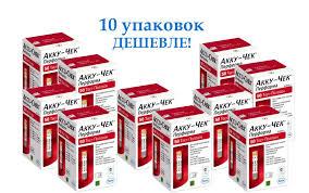 Тест-смужки Акку-Чек Перформа 10 упаковок