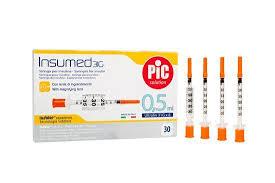 Шприци інсулінові Інсумед 0,5мл (INSUMED 0,5 ml) 30G -30штук