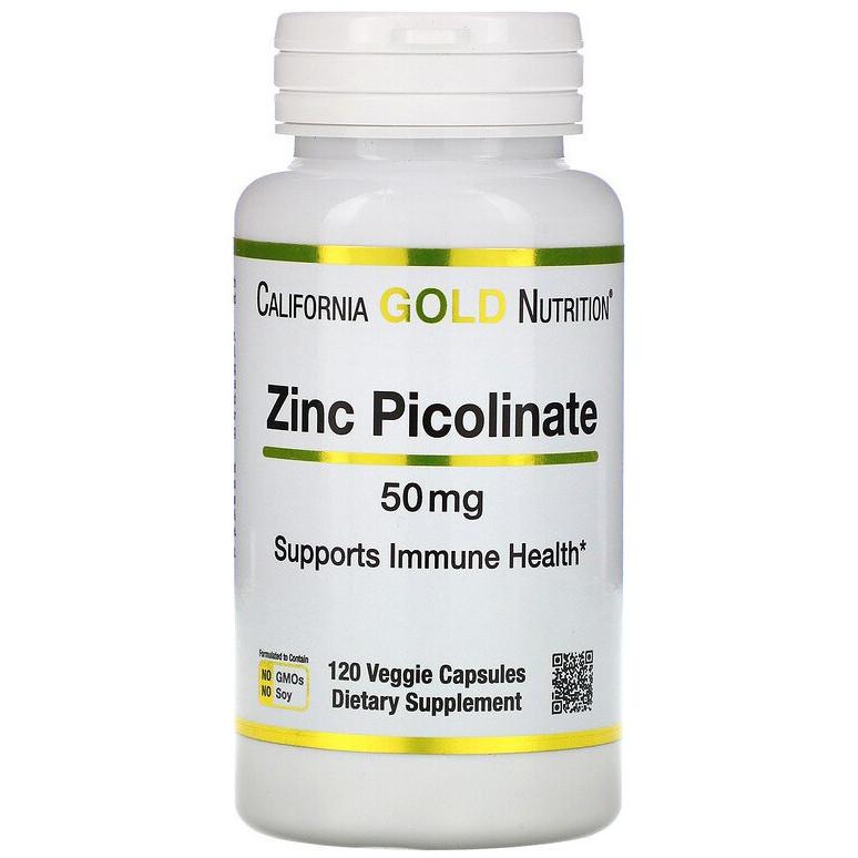 "Піколінат цинка California GOLD Nutrition ""Zinc Picolinate"" 50 мг (120 капсул)"